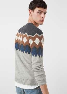 Mango Outlet Jacquard wool sweater