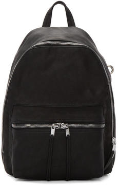 Rick Owens Black Mini Leather Backpack