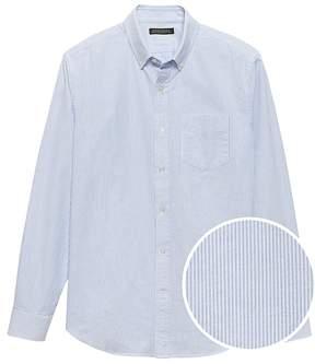Banana Republic Grant Slim-Fit 100% Cotton Stripe Oxford Shirt