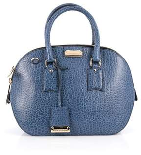 Burberry Pre-owned: Orchard Bag Heritage Grained Leather Small. - BLUE - STYLE