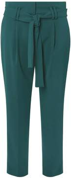 Dorothy Perkins Teal High Waist Tie Tapered Leg Trousers