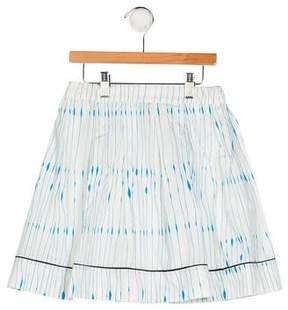 Marni Junior Girls' Pleated Striped Skirt w/ Tags