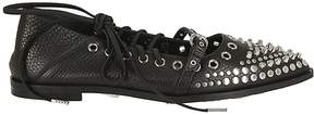 McQ Studded Lace-up Ballerinas