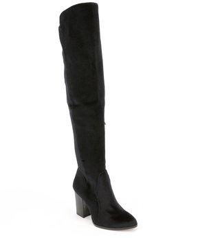Gianni Bini Emeldaa Velvet Over the Knee Boots