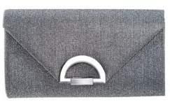 Nina Metallic Pleated Clutch