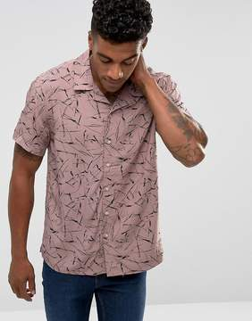 New Look Shirt With Print In Dusty Pink