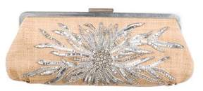 Tiffany & Co. Embellished Straw Clutch