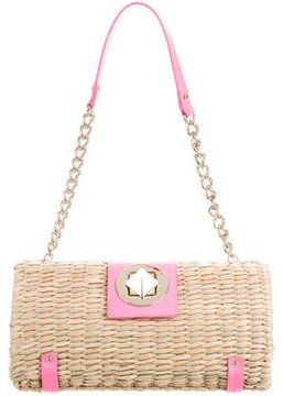 Kate Spade Straw & Leather Bag - NEUTRALS - STYLE