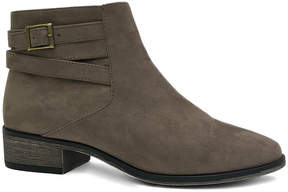 Bamboo Taupe Play Buckle-Accent Ankle Boot - Women