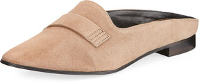 Charles David Mulley Suede Flat Loafer Mule