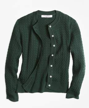 Brooks Brothers Long-Sleeve Mini Cable Cardigan