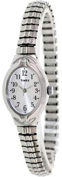 Timex Women's Dress T2N981 Silver Stainless-Steel Plated Analog Quartz Fashion Watch