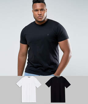French Connection PLUS 2 Pack V Neck T-Shirt