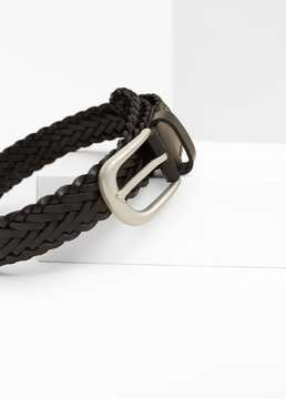 Mango Outlet Braided leather belt