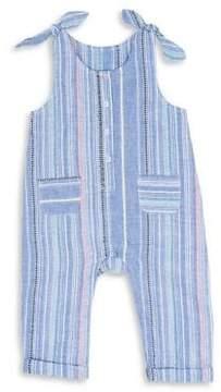 ED Ellen Degeneres Baby Girl's Striped Cotton Jumpsuit