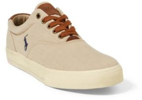 Ralph Lauren Vaughn Washed Twill Sneaker Khaki 15