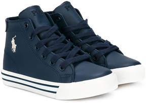 Ralph Lauren high-top lace-up sneakers
