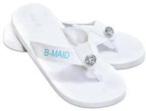 Cathy's Concepts Women's 'Bridesmaid' Personalized Flip Flops