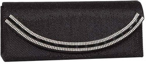 J. Furmani Women's 61964 Crystal Border Flap Clutch