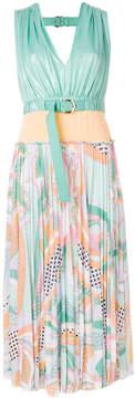 Emilio Pucci panelled printed midi dress