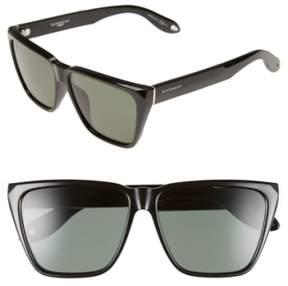 Women's Givenchy 58Mm Flat Top Sunglasses - Black/ Grey Green