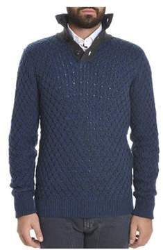 Roberto Collina Men's Blue Wool Sweater.