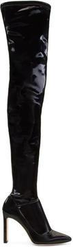 Jimmy Choo Black Lorraine Over-the-Knee Boots