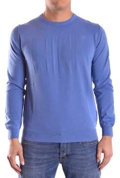 Dirk Bikkembergs Men's Blue Cotton Sweater.