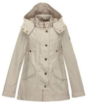 Moncler Armance Hooded Jacket, Tan, Size 8-14