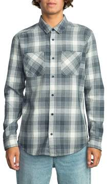RVCA Men's Plaid Woven Shirt