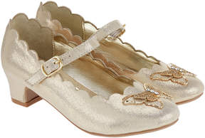 Monsoon Beautiful Metallic Butterfly Charleston Shoes