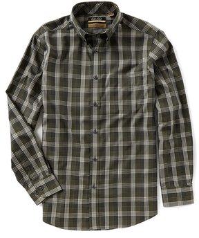 Roundtree & Yorke Gold Label Big & Tall Long-Sleeve Plaid Non-Iron Sportshirt