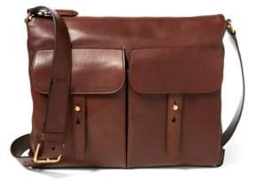 Ralph Lauren Calfskin Pocket Messenger Bag Mahogany One Size