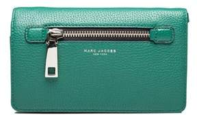 Marc Jacobs Women's Leather ¿gotham¿ Cross Body Clutch Green. - GREEN - STYLE