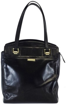 Brooks Brothers Black Leather Tote