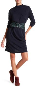 Noisy May Winnie Long Sleeve Mock Neck Sweater Dress