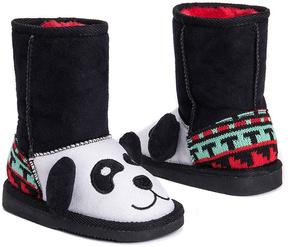 Muk Luks Black Panda Boot - Kids