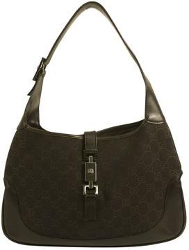Gucci Jackie cloth handbag - BROWN - STYLE