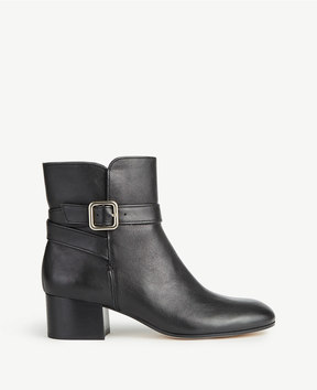 Ann Taylor Tinley Leather Buckle Booties