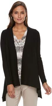 Dana Buchman Women's Open-Front Ribbed Cardigan