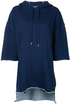 The Upside three-quarters sleeve loose-fit hoodie