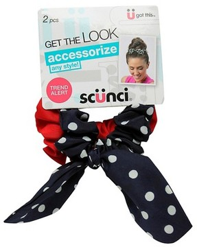 Scunci Bow Tie Scrunchies Polka Dot 2 ct