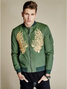 GUESS Men's Explorer Embroidered Bomber Jacket