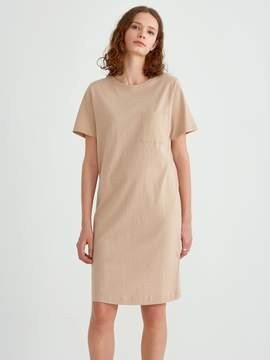 Frank and Oak Heavy Cotton Short Sleeve Tee Dress in Nomad