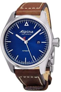 Alpina AL-525N4S6 Stainless Steel & Leather Blue Dial Automatic 44mm Mens Watch