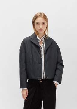 Aalto Short Pinstripe Jacket Flash Black Size: FR 34