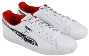 Puma Clyde Trapstar White Black Mens Lace Up Sneakers