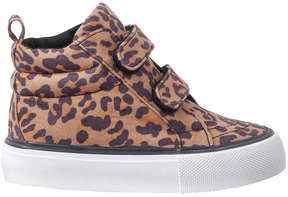 Joe Fresh Baby Girls' Leopard High Top Sneakers, Natural (Size 5)