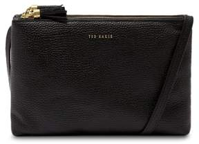Ted Baker Double Zip Leather Crossbody Bag