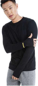 Joe Fresh Men's Mesh Active Tee, Black (Size M)